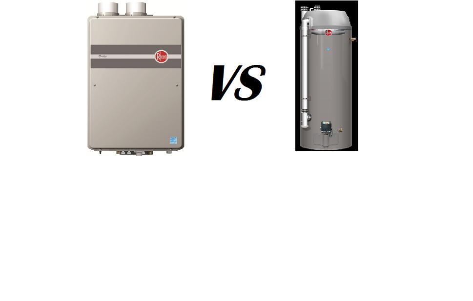 tankless water heaters versus tank water heaters